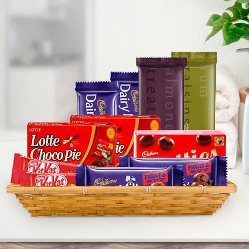 Online Gift Basket of Tasty Chocolate