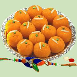 Arresting Laddoos made of Pure Ghee and a Charismatic Rakhi