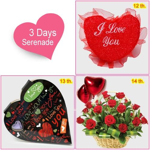 Send 3 Day Serenade Gift for Lady love