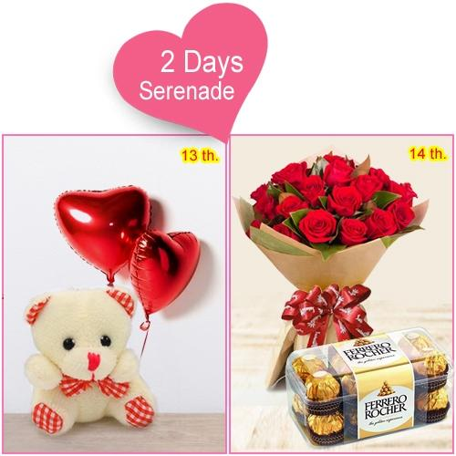 Send Valentines Day Gift of 2-Day Serenade Hamper