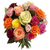Send Bunch of Mixed Roses Online