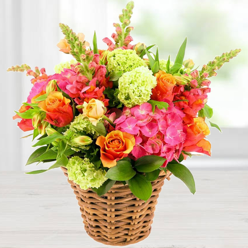 Tropical Mix Arrangement of Fresh Flowers