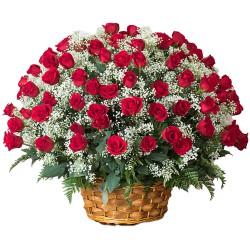 101/201/501/1001 <font color =FF0000> Dutch Red </font>  Roses  Arrangement