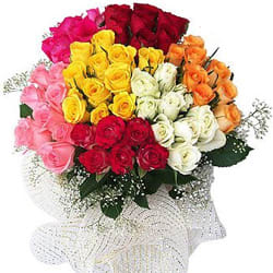 Online Gift of Mixed Roses Bouquet