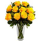Quintessence Yellow Roses in a Vase to Connaught Place