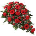 Flat Arrangement of 24 Red Flowers to Faridabad