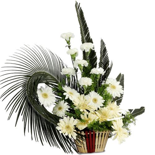 Order Online Arrangement of Carnations N Gerberas