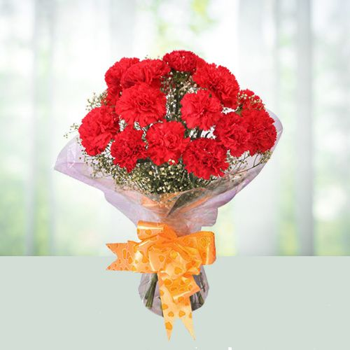 Gift Online Bouquet of Red Carnations