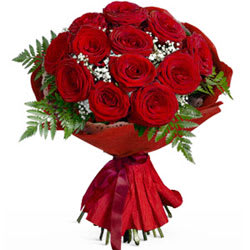 Deliver Online Bouquet of Red Roses