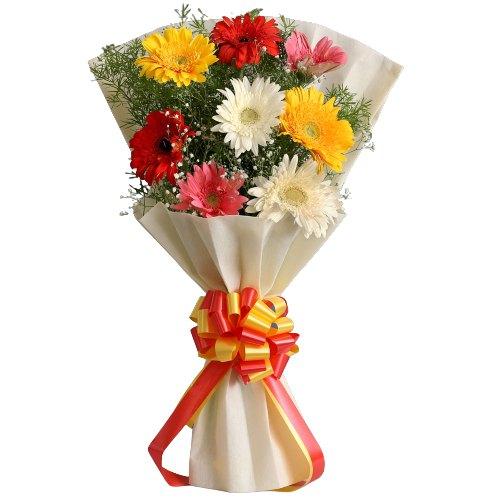 Online Order Bouquet of Mixed Gerberas