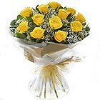 Sophisticated Surprise Day Yellow Roses Selection