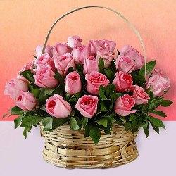 Delicate Pink Roses Arrangement