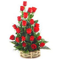 Book Online Red Roses Basket
