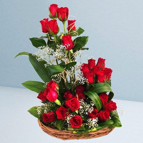 Gift Online Red Roses Arrangement