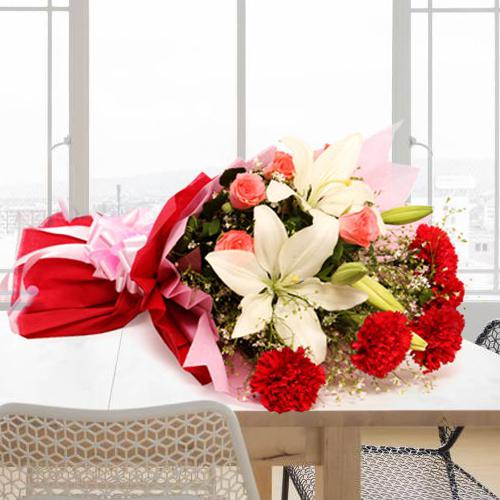 Online Deliver Mixed Flowers Bouquet