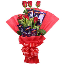 Deliver Dairy Milk Bouquet Online