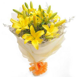 Bouquet of Yellow Lily