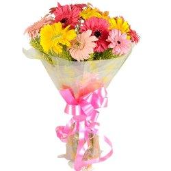 Aromatic Assorted Gerberas Bouquet