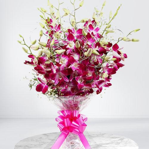 Online Deliver Orchids Stem Bouquet