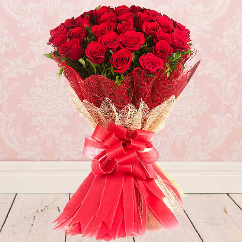 Online Bouquet of Red Roses