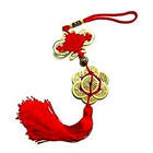 Feng Shui Fortune 8 Coins Red Tassel Hanging - Luck Gift