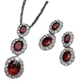 Ornate Pendant with Earrings from Avon