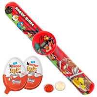 Angry Bird Watch Band with Kinder Joy Chocolates for Kids