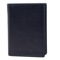 Exquisite Pure Leather Urban Forest Coat Wallet in Black for Men