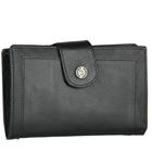 Elegant Titan Fastrack Ladies Leather Wallet in Black
