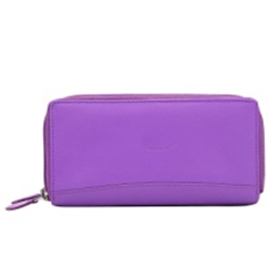 Graceful Purple Coloured Urban Forest Wallet Made of Genuine Leather