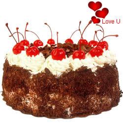 <u><font color=#008000> MidNight Delivery : </FONT></u>:Black Forest Cake From Taj / 5 Star Hotel Bakery