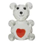 Cute Crystal Made Love Teddy with Heart