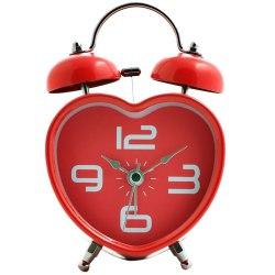 Cute Heart Shaped Red Alarm Clock