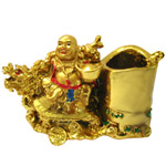 Worthy Laughing Buddha Pen Stand