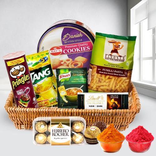Lovely Heart Healthy Snacks Gift Basket