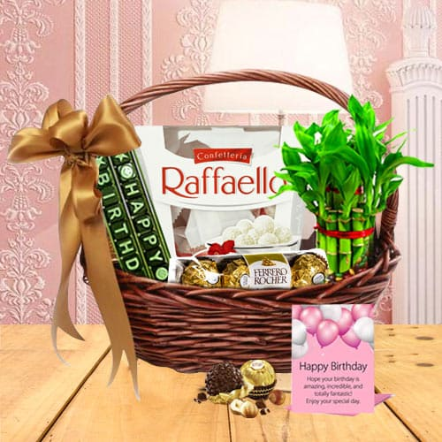 Exquisite Happy Birthday Surprise Gift Basketbr