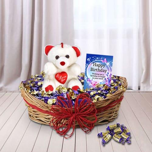 Delightful Birthday Presents Gift Basket<br>