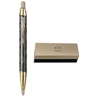Stunning Parker IM Metal Twin Chiselled GT Ball Pen in Black Color