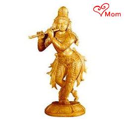 Designer Sandalwood Lord Krishna Statue