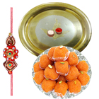Special Rakhi with Assorted Sweets for Best Brother