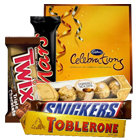 Splendid Chocolate Hamper for Sister with Impressions of Love