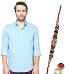 Deluxe Peter England Shirt Rakhi Special Hamper