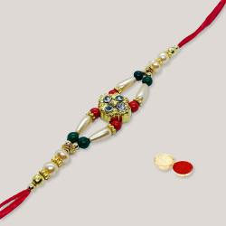 Classic Beaded Rakhi with Alluring Affection