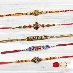 Showy Rakhi Color Combinations