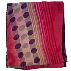 Fabulous Pink Color Printed chiffon Saree
