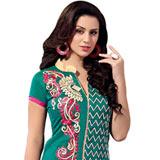 Graceful Printed Chanderi Salwar Suit
