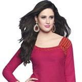Vibrant Pink Cotton Patiala Suit