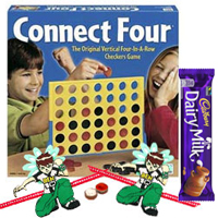 Connect 4 � A Classic game for All Ages with 2 Ben 10 Rakhi and Roli Tilak Chawal