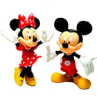 Sporty Duel Collection of Mickey Mouse N Minnie Mouse Action Figures for Smart Kids