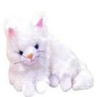 Real Looking Plush  Lying Kitty
